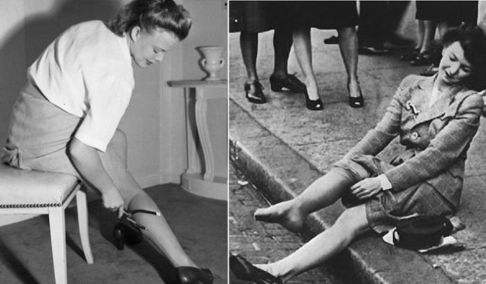 Как появились капроновые колготки, и что заставило женщин брить ножки.