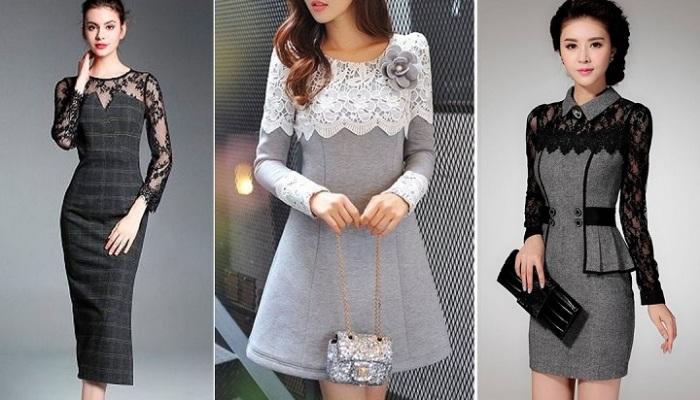 Офисные платья: Серые, но стильные.