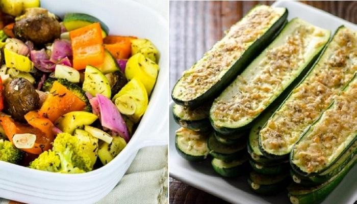 Аппетитные блюда из овощей.