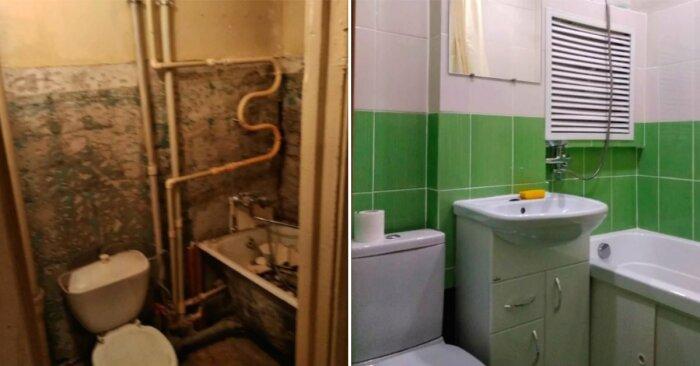 В ванной был сделан капремонт. | Фото: sovkusom.ru.