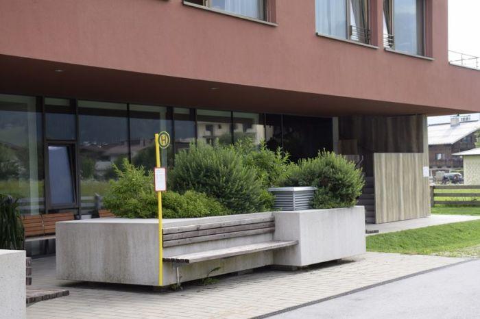 Фантомная остановка возле медучреждения. | Фото: tt.com.