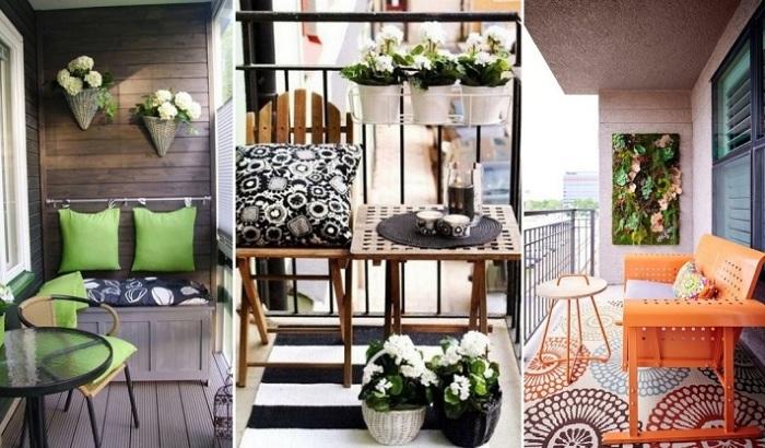 Интересные идеи для небольшого балкона.