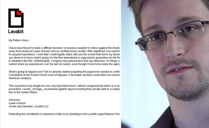 Письмо создателя LavaBit Ладара Левисона пользователям.