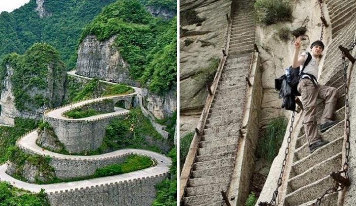 Самые головокружительные лестницы в мире.