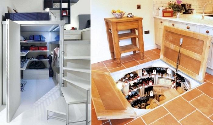 12 невероятных идей как спрятать потайную комнату/