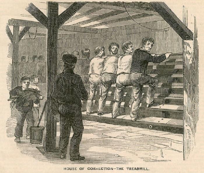 Как беговая дорожка стала самым жестоким наказанием в британских тюрьмах прошлого. | Фото: pikabu.ru.
