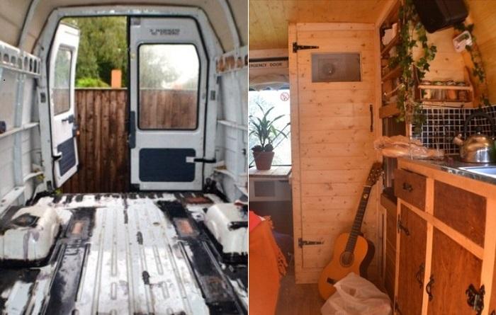 Старый грузовик, из которого получился уютный дом на колесах