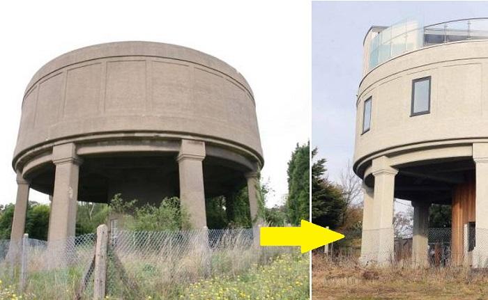 Из старой водонапорной башни новый владелец сделал дом мечты.