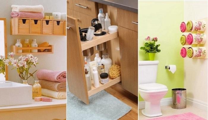 20 практичных советов для хранения мелочей в ванной