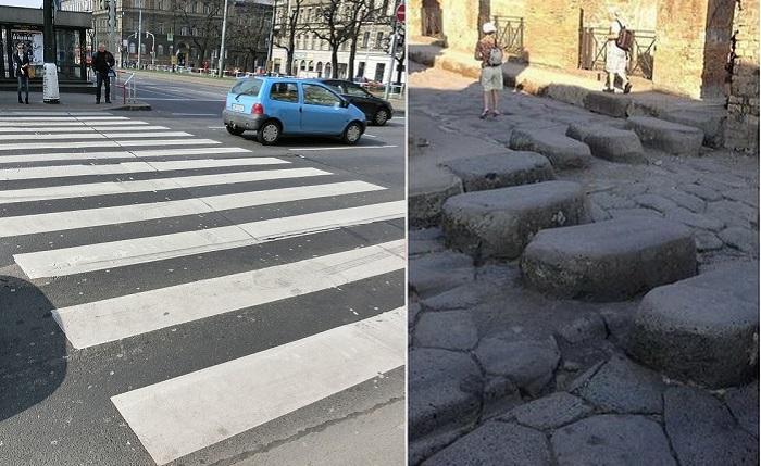 Как появилась пешеходная разметка зебра.
