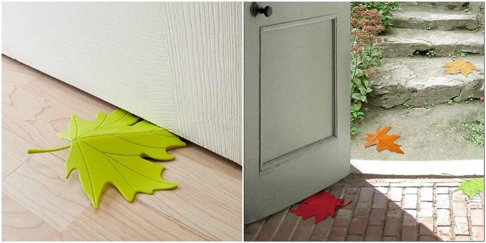 Такой листочек вольется в любой дизайн, подберите всего лишь нужный цвет.