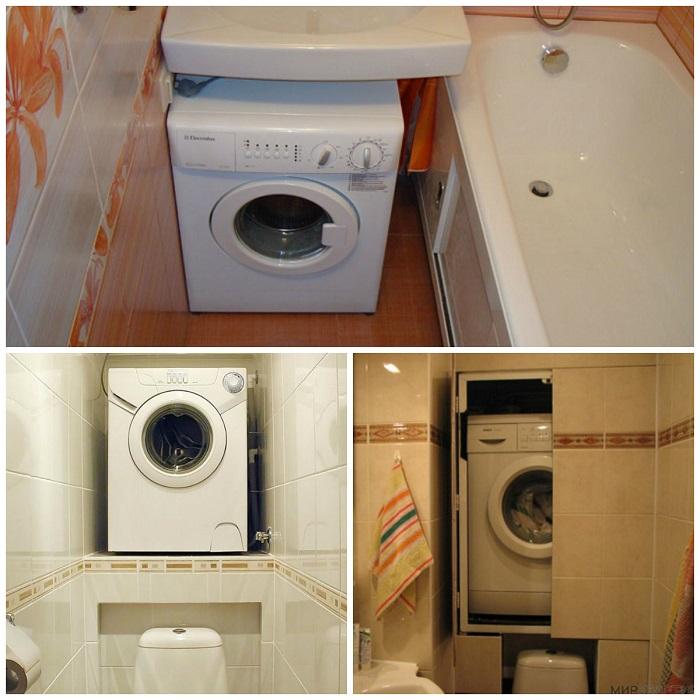 Стиральная машина есть у нас у каждого дома. Но кто-то ее ставит в прихожей, кто-то на кухне, так как очень мало места в ванной комнате.