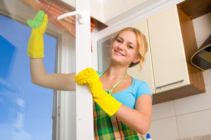 Окна можно без проблем отчистить до идеально блеска.