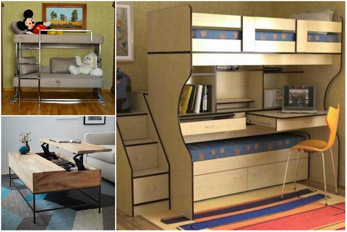 Мебель трансформер – это технологический процесс современного времени.