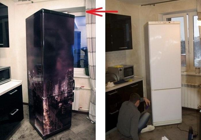 Интерьер холодильника своими руками.