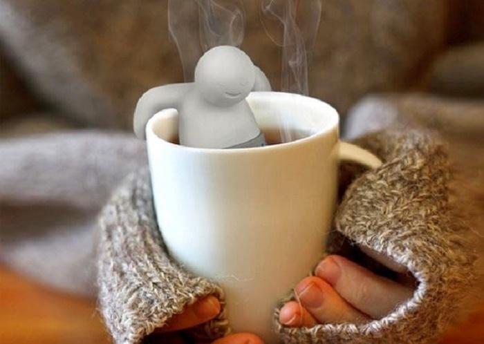 Оригинальная сеточка для заваривания чая, гости будут в полном восторге.