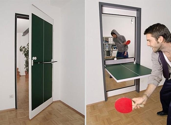 Если вы любите играть в настольный теннис, а места в вашем доме ограниченно, тогда эта идея для вас.