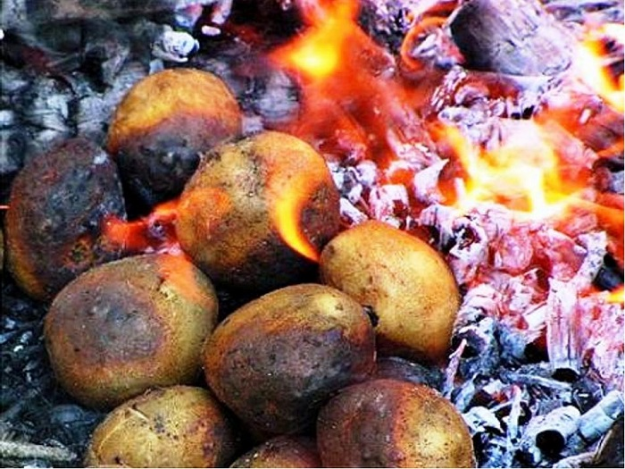 Печеная картошечка - лакомство для любого возраста, а вкус её ни с чем не сравнится.