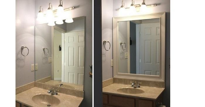 Создайте основание вокруг зеркала, которое будет смотреться теперь совсем в ином виде.