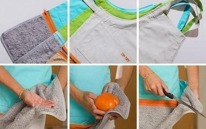 Очень удобный и незаменимый в хозяйстве фартук-полотенце.