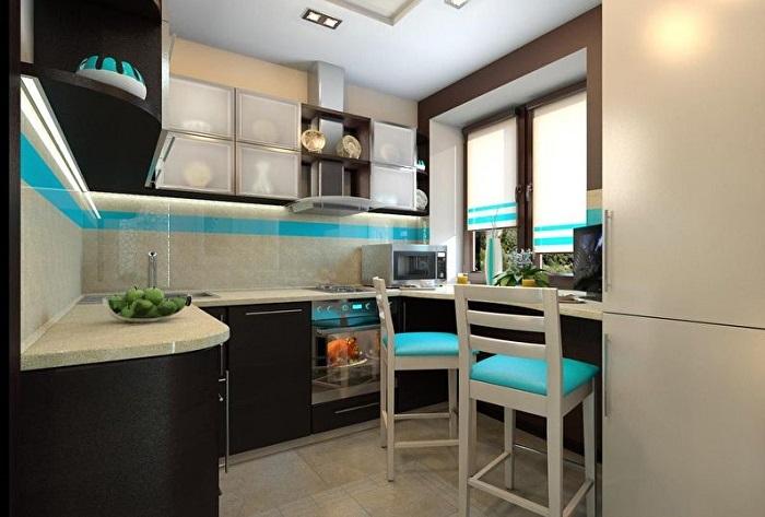 Такую маленькую, красивую и вместимую кухню похвалит любой гость вашего дома.