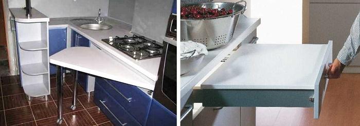 Каждая хозяйка, конечно же, будет рада, если у неё появится ещё дополнительное место для приготовления пищи.