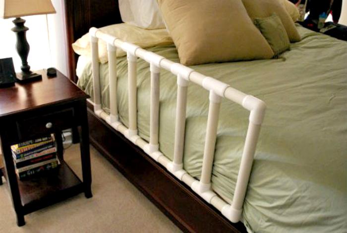 Некоторые детки спят с родителями, установите такой ограничитель для кровати, чтоб ребенок не упал, не дай бог во сне.