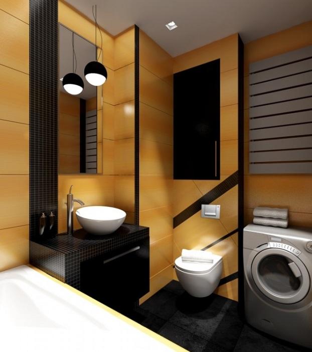 Эта комната выполнена со вкусом и стилем, несмотря на ограниченное пространство.