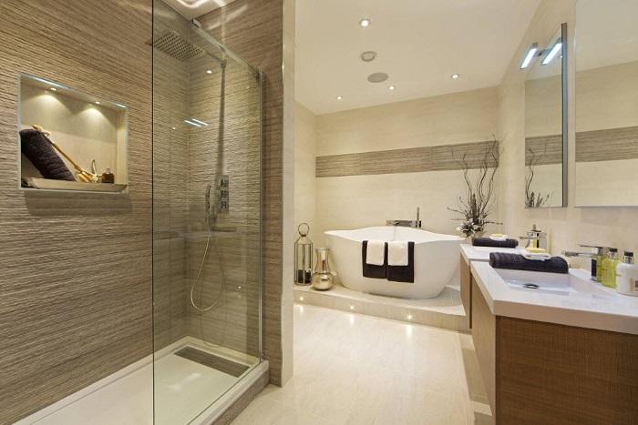 Вариант для тех, у кого есть много места в ванной комнате и можно позволить не экономить место.