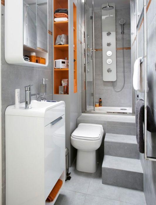 Вариант для тех, у кого катастрофически не хватает места в ванной комнате.