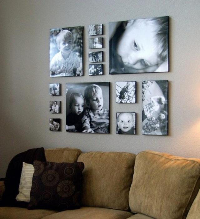 Его можно создать из семейных фотографий или понравившихся вам красивых картинок.