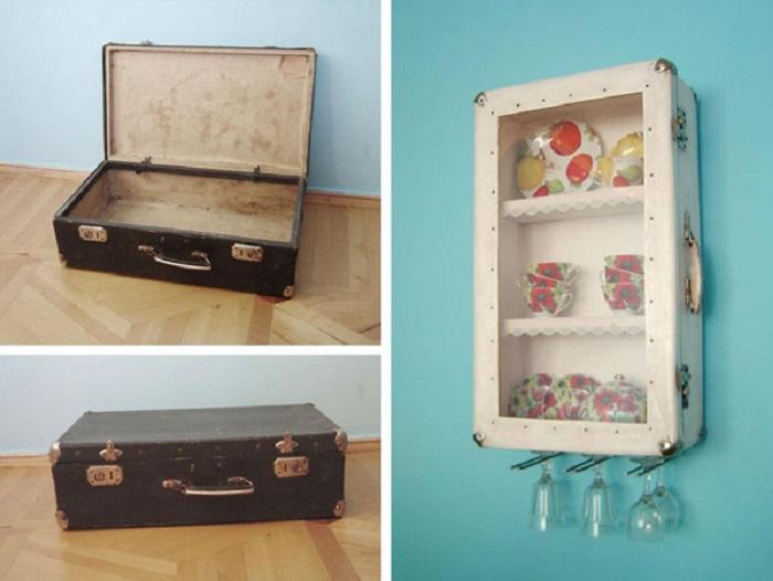 Оригинальная идея для создания необычного шкафчика для посуды.