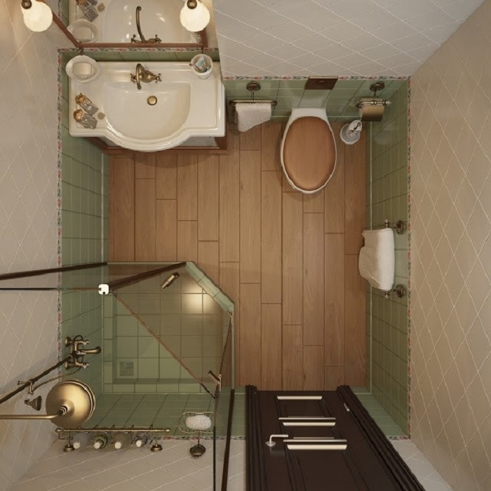 Удобная и простая комната в светлом и зеленом цвете.