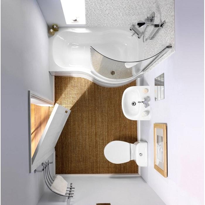 Светлый цвет и мозаика будут гармонично сочетаться в вашей ванной комнате.