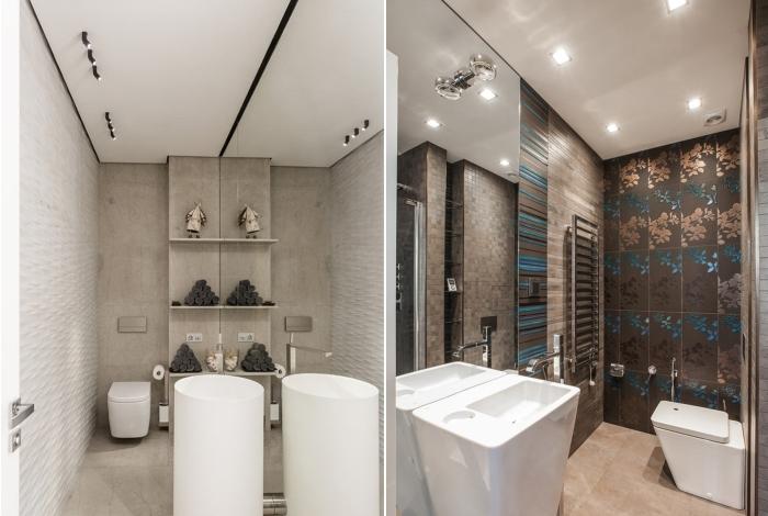 Освещение в туалете. / Фото: design-homes.ru.