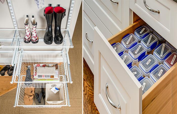 Простые и удобные системы хранения вещей.