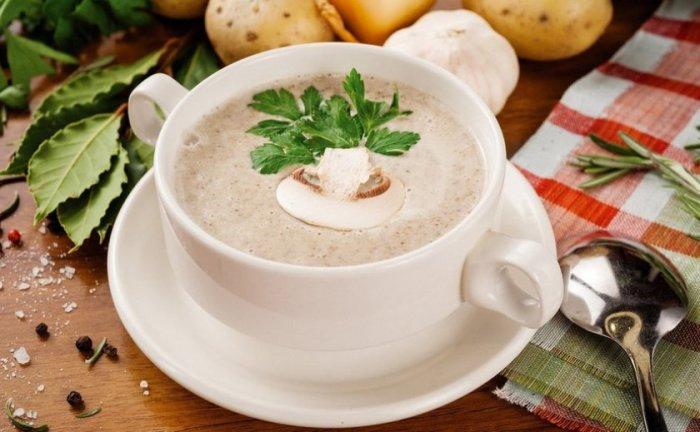 Грибной крем-суп. \ Фото: yandex.ru.