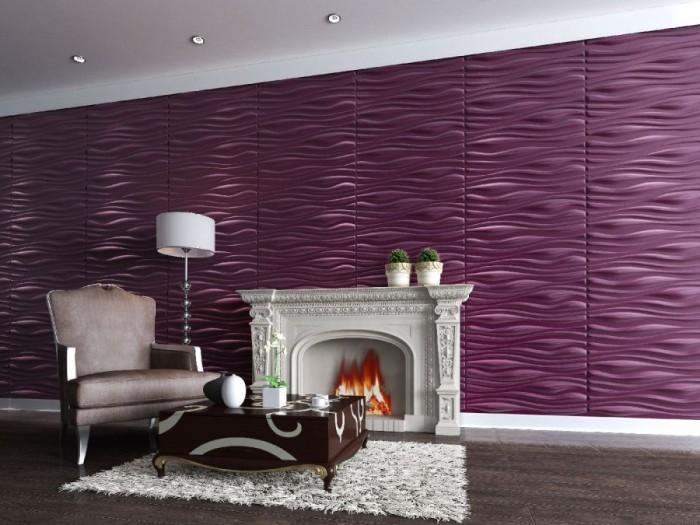 Фиолетовый как элемент декора.