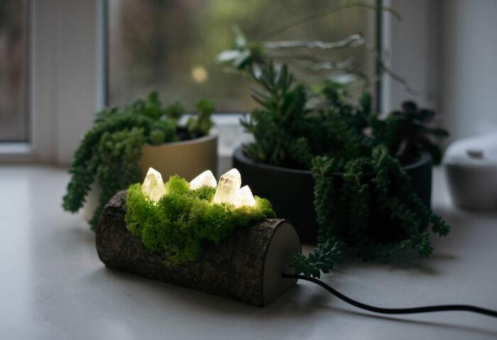 Декоративная лампа в эко-стиле. \ Фото: photo.sina.cn.