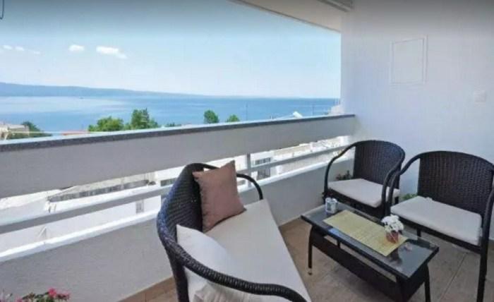 Двухкомнатная квартира с видом на Адриатическое море.