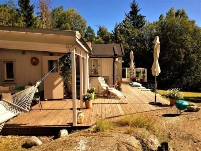 Уютный обустроенный дом с двумя спальнями.