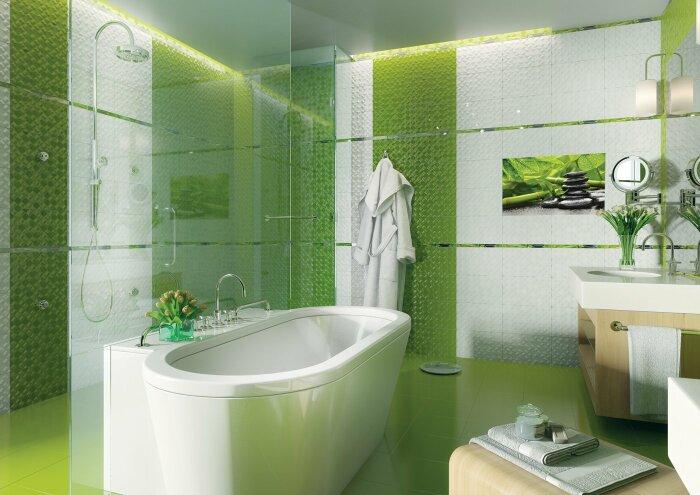 Плитка в зелёных тонах. \ Фото: google.com.