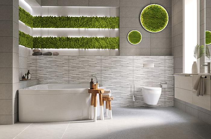 Биофильный дизайн ванной. \ Фото: google.com.