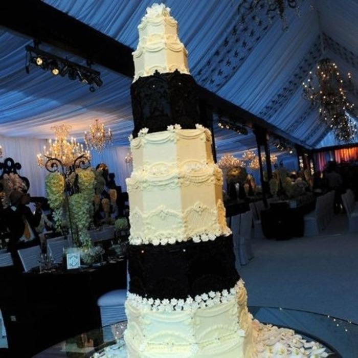 Чёрно-белый торт.