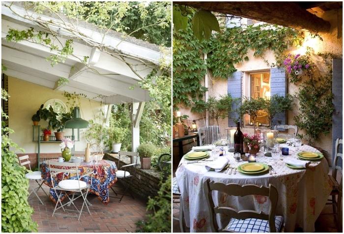 Уютный дворик в стиле прованс. \ Фото: golbis.com.