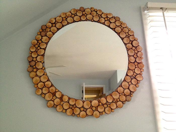 Оригинальная круглая рама с элементами дерева. \ Фото: jaimecostiglio.com.