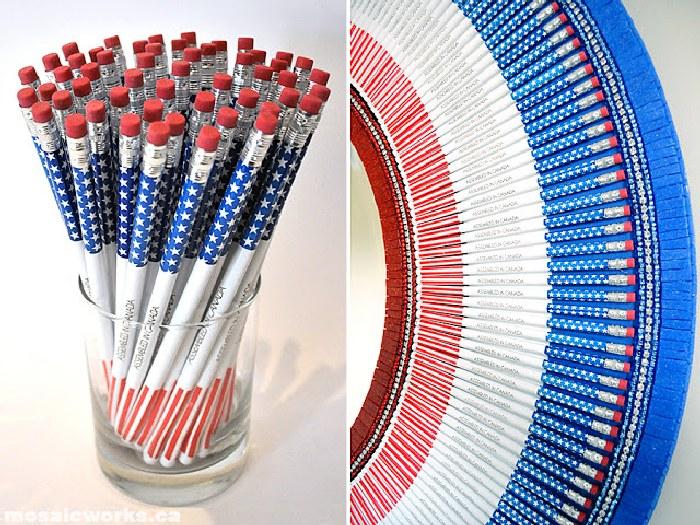 Карандаши для декора зеркала. \ Фото: ayudaadecorar.blogspot.com.