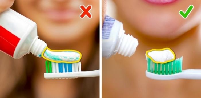Используем правильное количество зубной пасты. \ Фото: podrobnosti.ua.