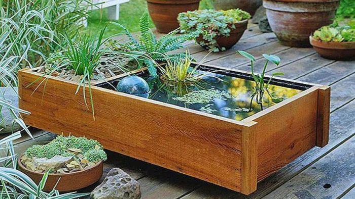 Мини-фонтан водный сад. \ Фото: apartmenttherapy.com.