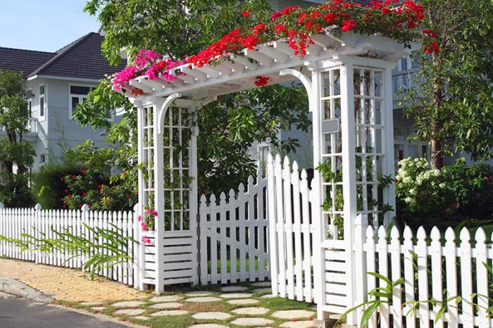 Арочный забор.
